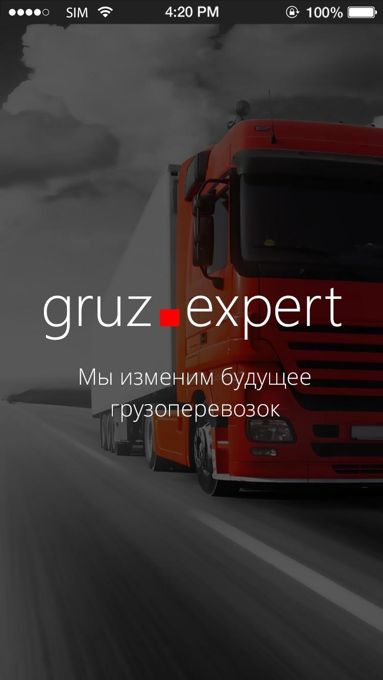 Gruz.Expert главный экран
