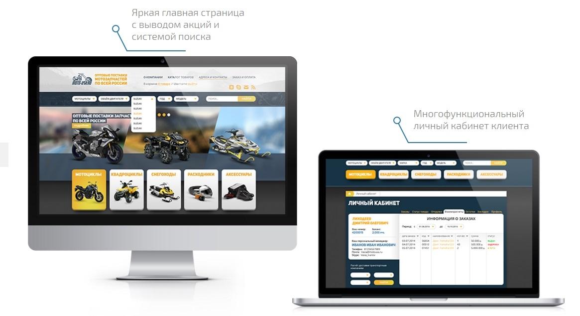 разработка интернет магазин автозапчастей